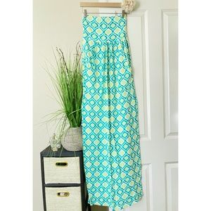 Threads 4 Thought Turquoise Strapless Maxi…